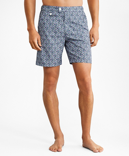 "Newport 7"" Floral Print Swim Trunks"