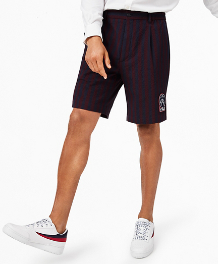 Brooks Brothers x FILA Striped Seersucker Newport Shorts