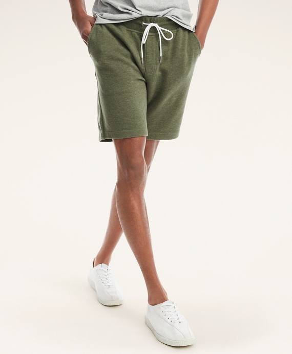 Drawstring Sweatshorts Dark Green