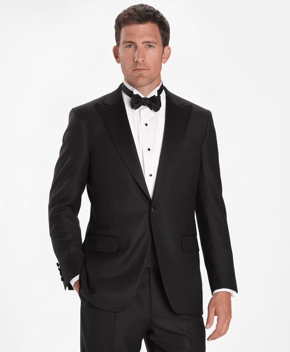 Madison Fit Golden Fleece® One-Button Peak Tuxedo Black