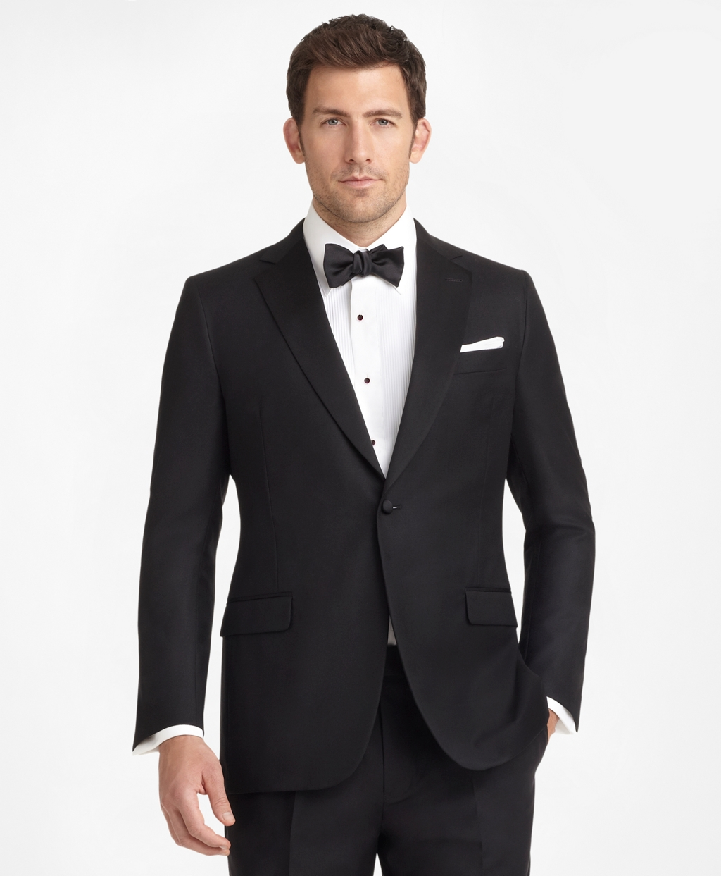 New Vintage Tuxedos, Tailcoats, Morning Suits, Dinner Jackets Brooks Brothers Mens Fitzgerald Fit Golden Fleece One-Button Notch Tuxedo $2,100.00 AT vintagedancer.com