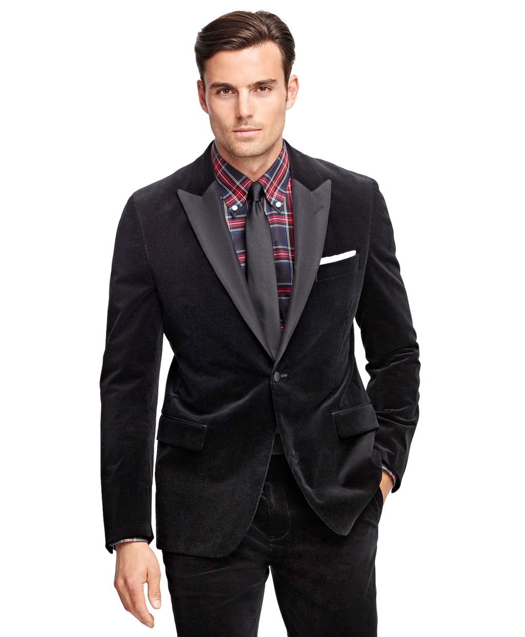 Men's Vintage Style Suits, Classic Suits Brooks Brothers Mens Fitzgerald Fit Corduroy Tuxedo $798.00 AT vintagedancer.com