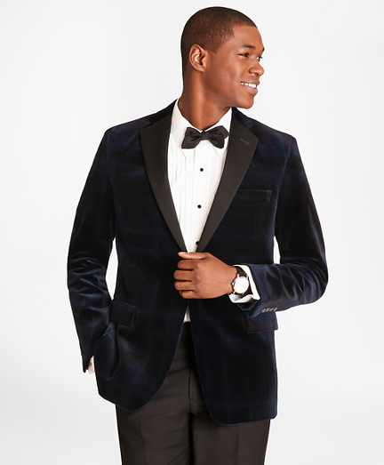 Regent Fit Black Watch Velvet Tuxedo Jacket