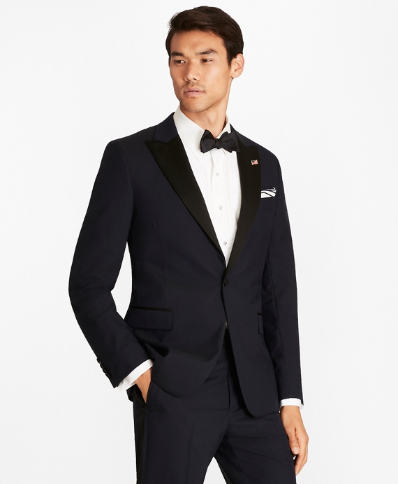 Regent Fit One-Button Jacquard Tuxedo Navy