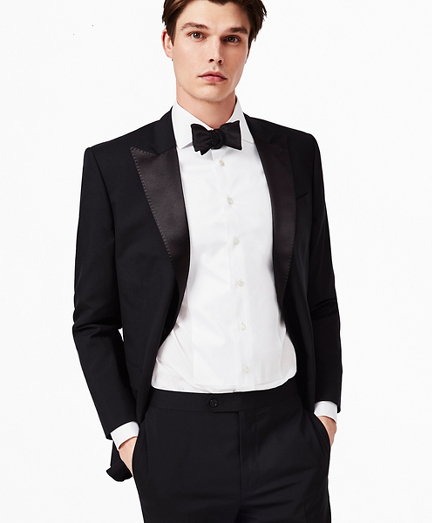 BrooksGate™ Regent-Fit Wool Tuxedo Jacket