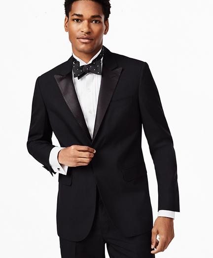 BrooksGate™ Milano-Fit Wool Tuxedo Jacket