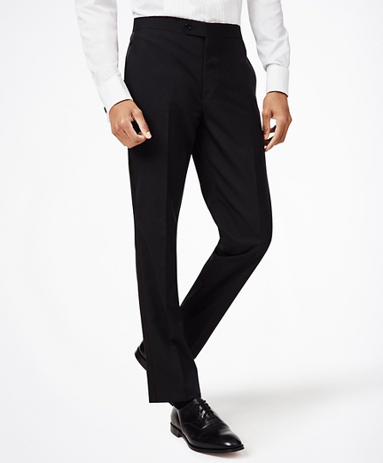 BrooksGate™ Milano-Fit Wool Tuxedo Pants