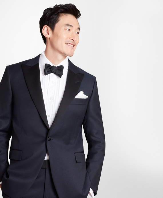 Regent Fit Small Dot 1818 Tuxedo Navy