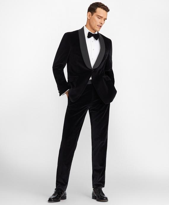 Regent Fit Shawl Collar Velvet Tuxedo Navy