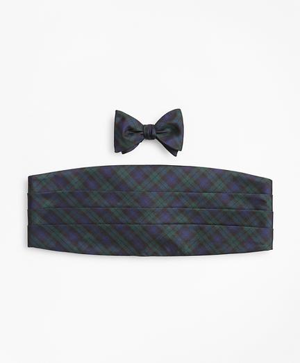Black Watch Tartan Tie and Cummerbund Set