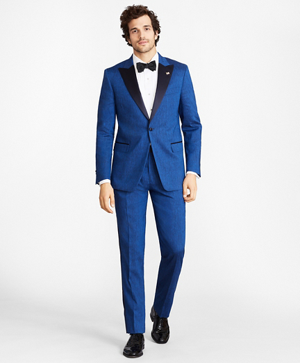 Regent Fit Linen and Wool One-Button Tuxedo