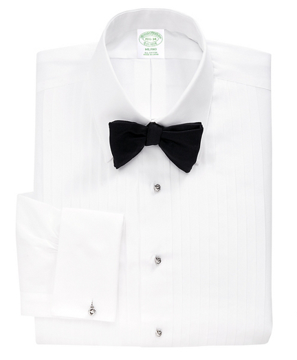 Milano Fit Ten-Pleat Tennis Collar Tuxedo Shirt