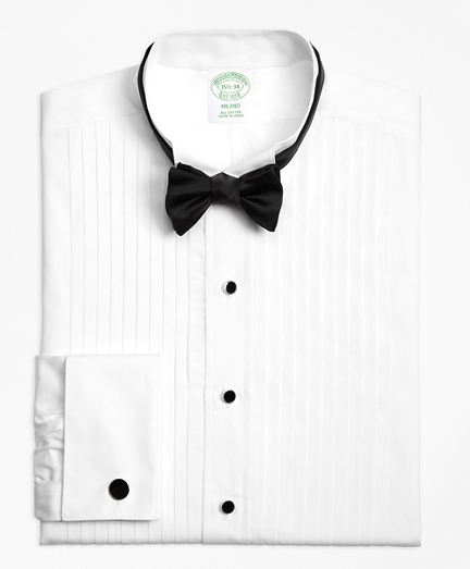 Milano Fit Ten-Pleat Wing Collar Tuxedo Shirt