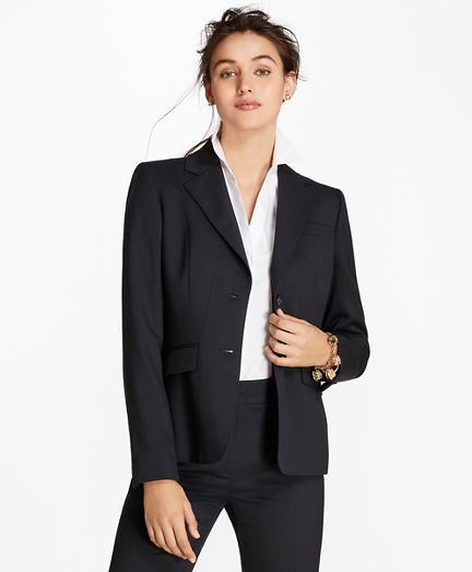 Petite Wool Two-Button Jacket