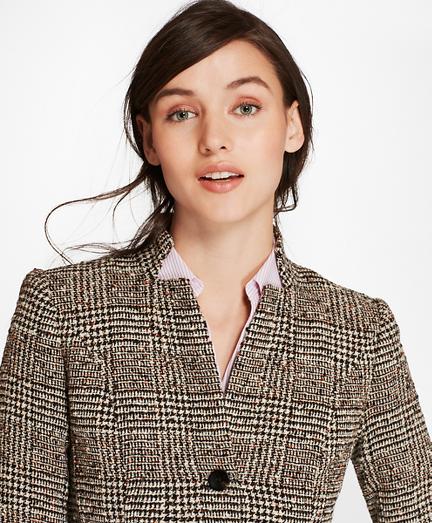 Petite Glen Plaid Tweed Jacket