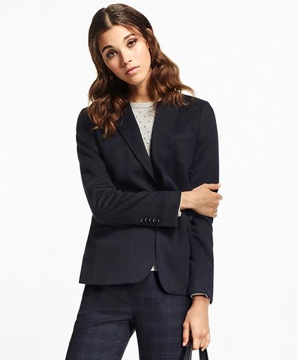 Petite Two-Button Cashmere Blazer