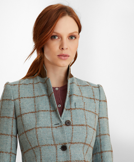 Petite Checked Tweed Jacket