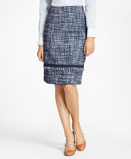 Petite Shimmer Boucle Skirt