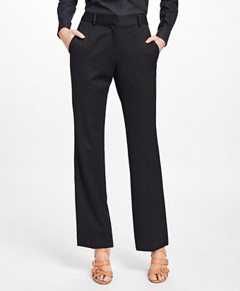 Petite Gabardine Trousers