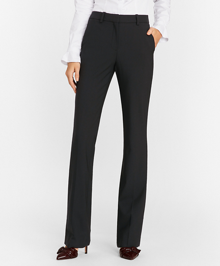 Petite Stretch-Wool Crepe Tuxedo Pants