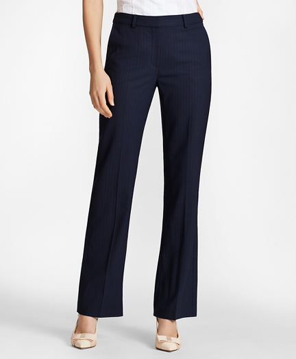 Petite Pinstripe BrooksCool® Merino Wool Pants
