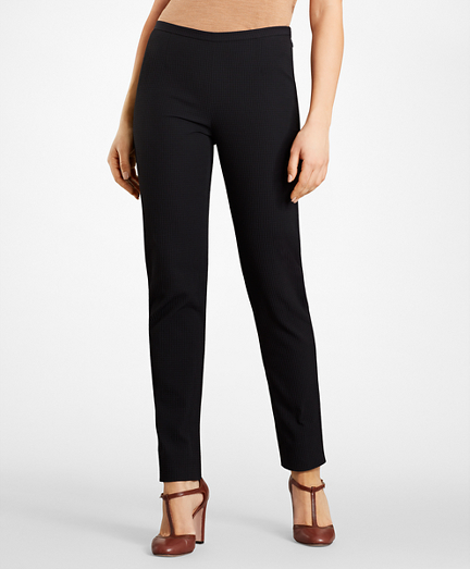 Petite Stretch-Cotton Jacquard Pants