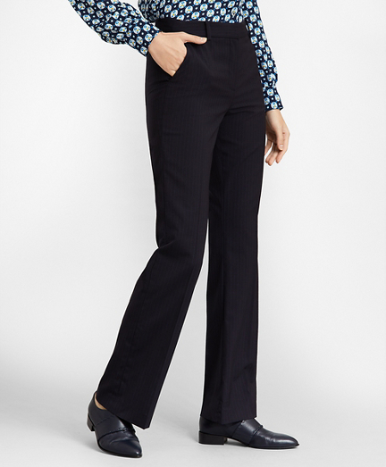Petite Pinstripe Stretch Wool Pants