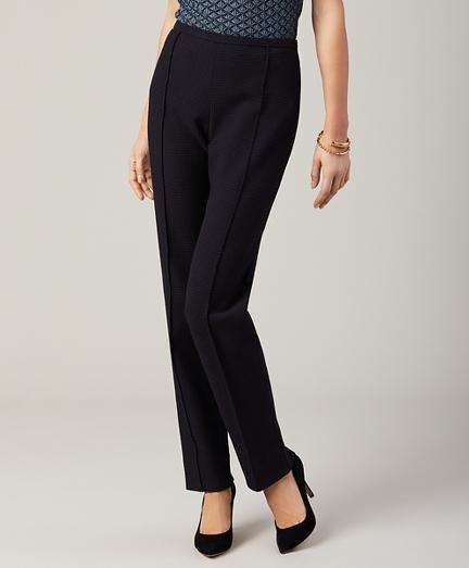 Petite Jacquard Slim-Fit Pants