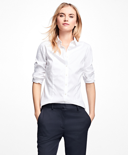 Petite Non-Iron Tailored-Fit Dress Shirt