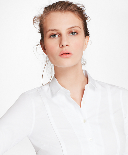 Petite Tailored-Fit Broadcloth and Dobby Cotton Shirt