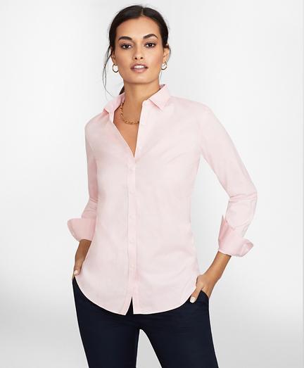 Petite Non-Iron Stretch Supima® Cotton Fitted Dress Shirt