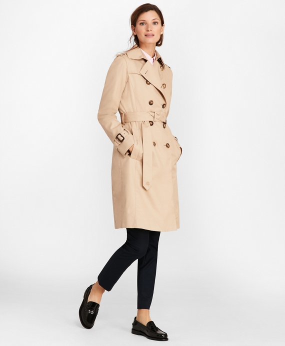 Petite trench coat double breasted