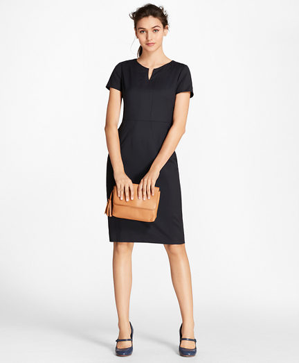 Petite Wool Sheath Dress