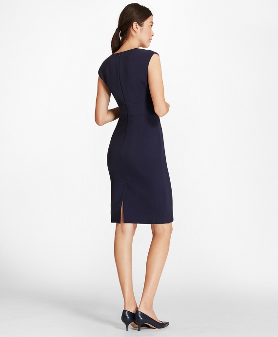 detailed look sale retailer timeless design Petite Crepe Satin Sheath Dress | Brooks Brothers