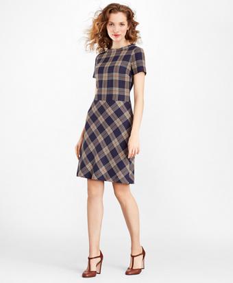 Petite Plaid Dress