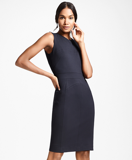Petite Ponte Knit Sheath Dress