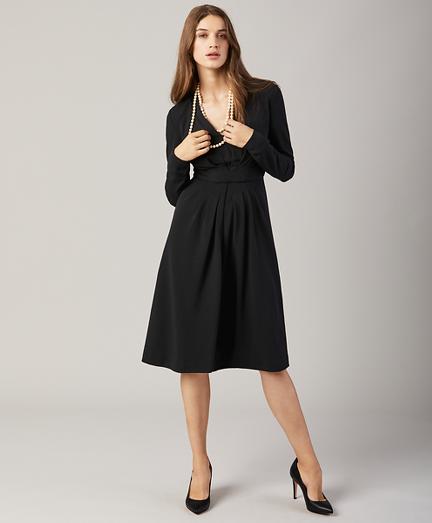 Petite Knit Jacquard Dress