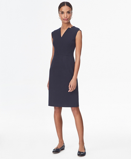Petite Jacquard Sheath Dress