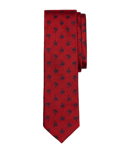 Palm Tree Slim Tie