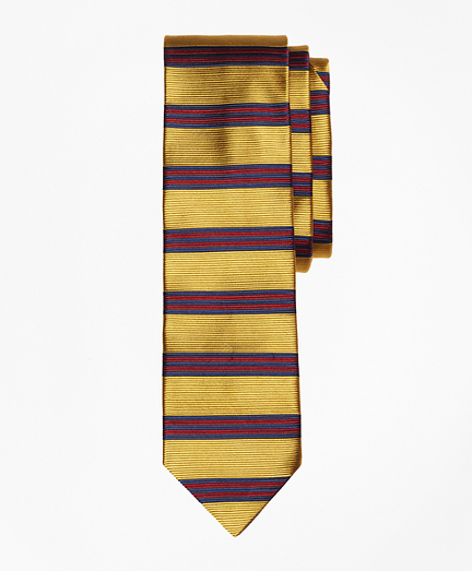 Horizontal BB#1 Stripe Slim Tie