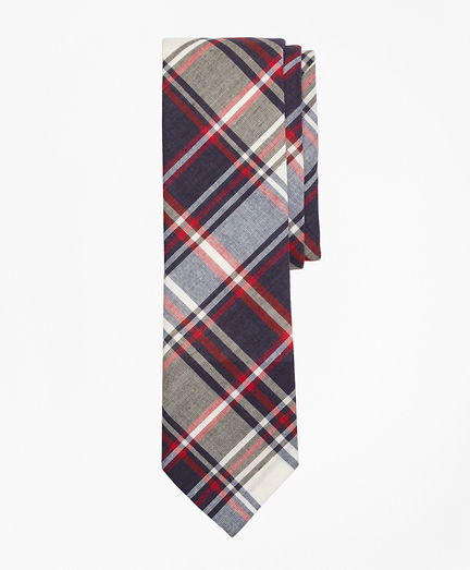 Plaid Madras Tie