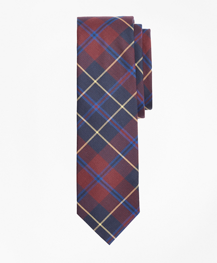 Check Cotton Slim Tie
