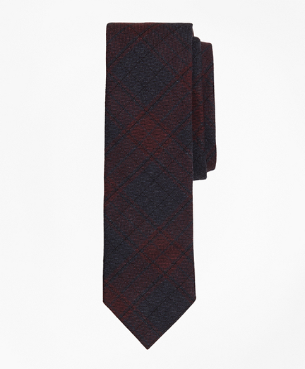 Plaid Stretch Cotton Slim Tie