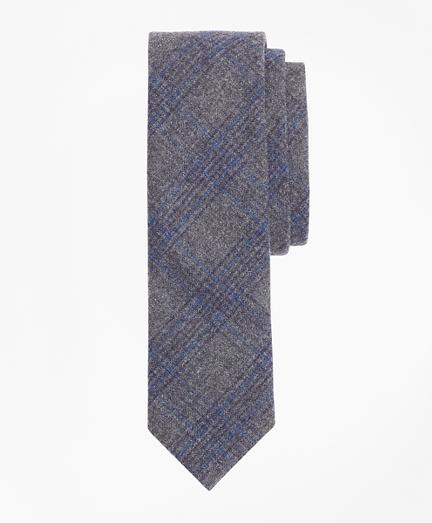 Plaid Wool-Cashmere Flannel Tie