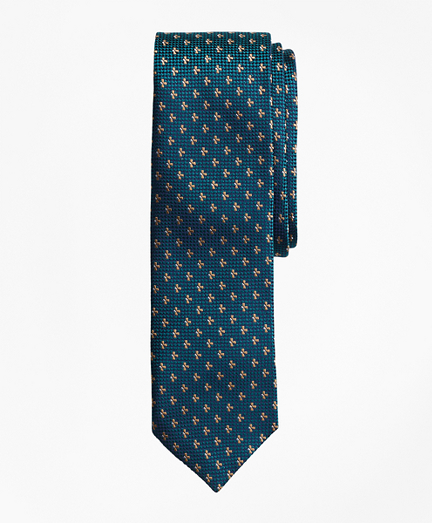 Textured Floral Neat Silk Jacquard Tie