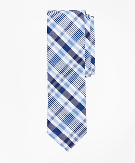 Plaid Seersucker Tie