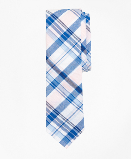 Plaid Madras Tie