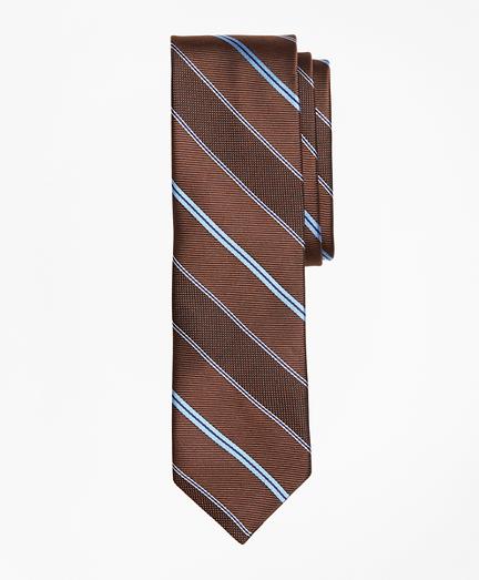 Alternating Stripe Textured Silk Tie
