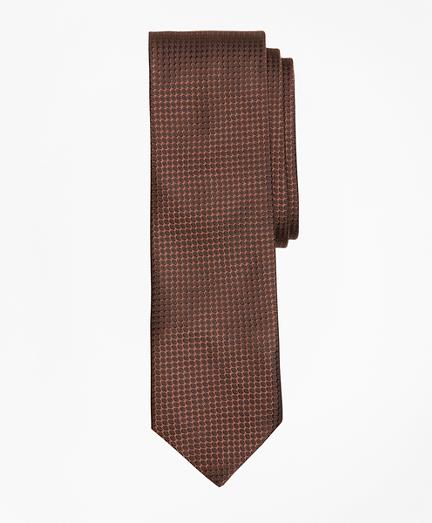 Textured Print Silk Tie