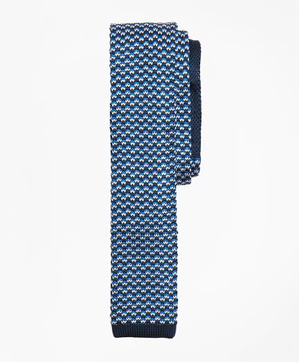 Patterned Silk Knit Tie